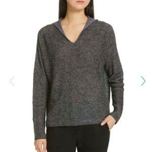 Eileen Fisher Linen Cotton Slub hoodie A0517
